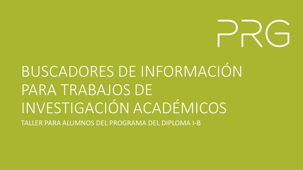 BIBLIOTECA PRG_ Taller_Buscadores de Recursos de Información 1