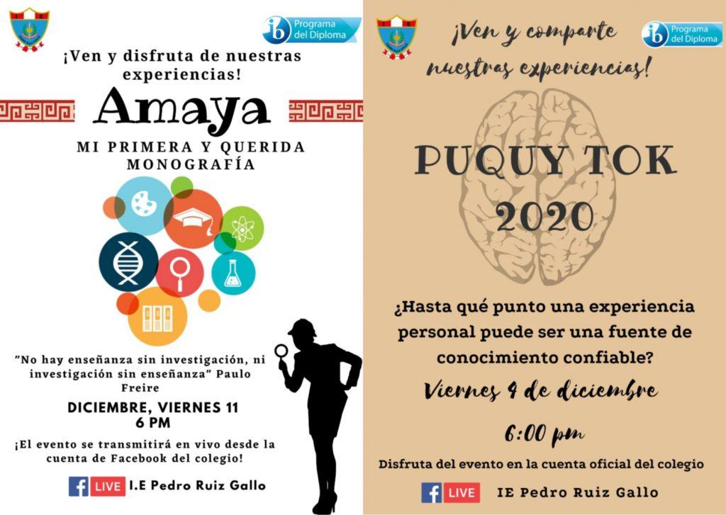 posters actividades PD 2020